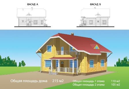 Выбор проекта деревянного дома из бруса