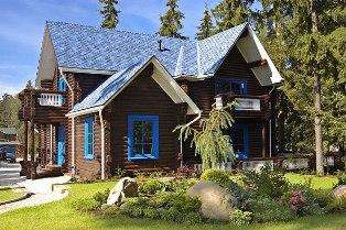 Ландшафтный дизайн деревянного дома