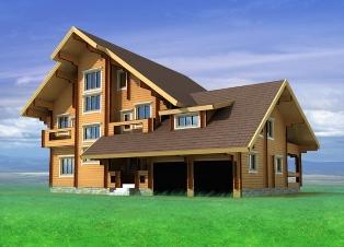 Индивидуальный проект дома из бруса
