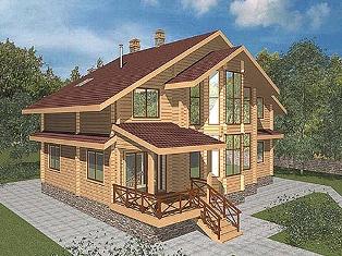 Дома из бруса типовые проекты