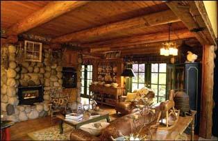 стиль кантри в деревянном доме