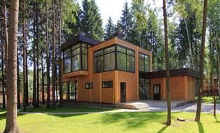 деревянные дома в стиле хай-тек