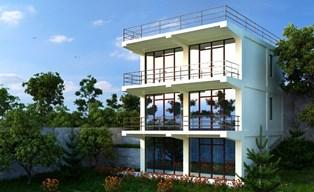 фасады домов в стиле хай-тек