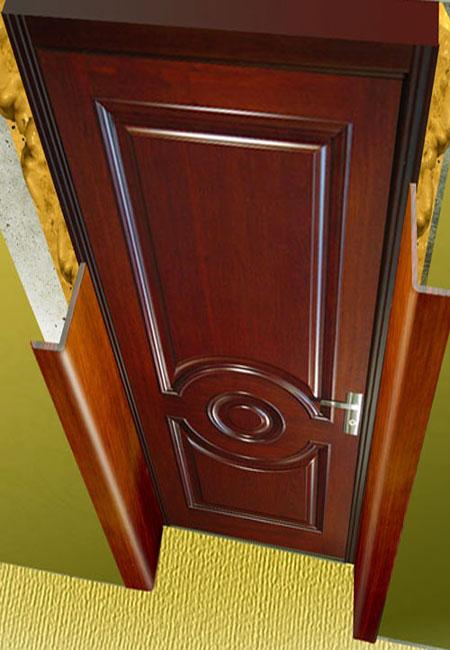 Установку откосов на входную дверь