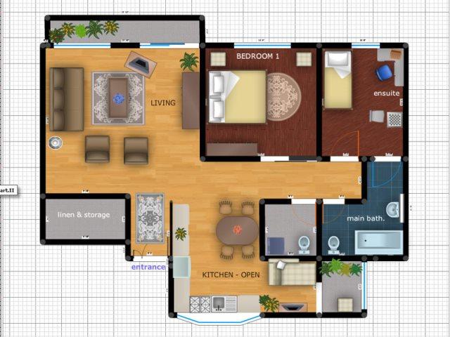 интерьер в программе Modernline Furniture