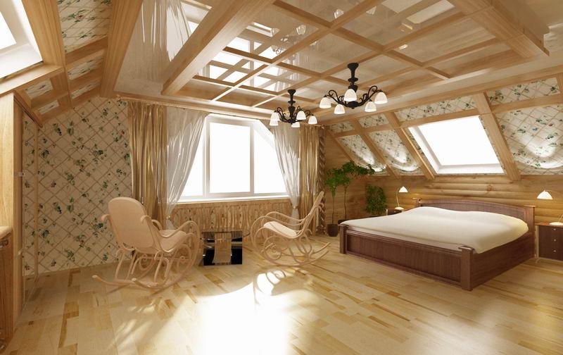 Обустройство мансарды дачного дома