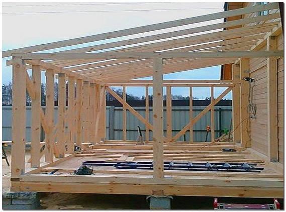 строительство веранды к дому