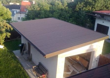 обустройство односкатной крыши