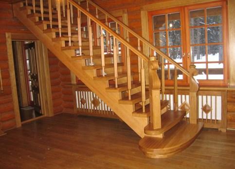 обустройство лестницы на второй этаж