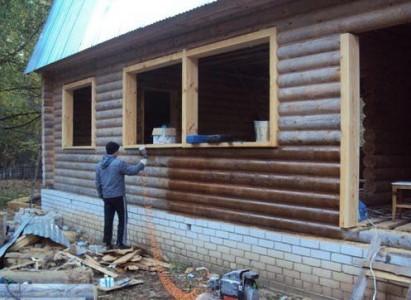 защита деревянного дома от грибка