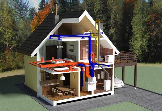 проект системы отопления дома