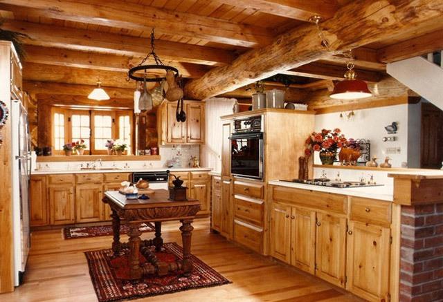 мебель для кухни в деревянном доме