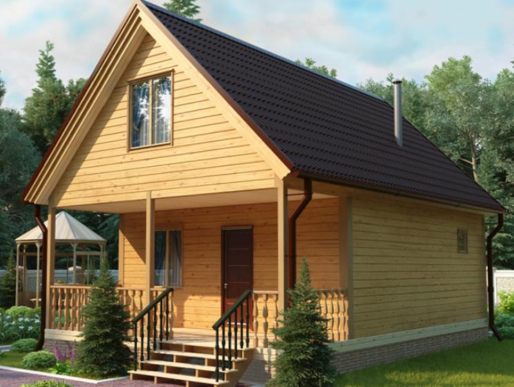 Как построить дачный дом из бруса
