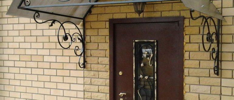 Козырек над крыльцом к дому: фото